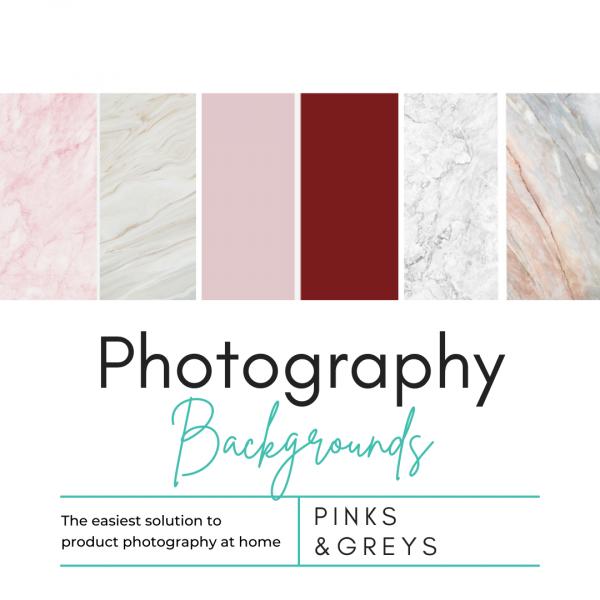 Pinks & Greys Photography Background Set