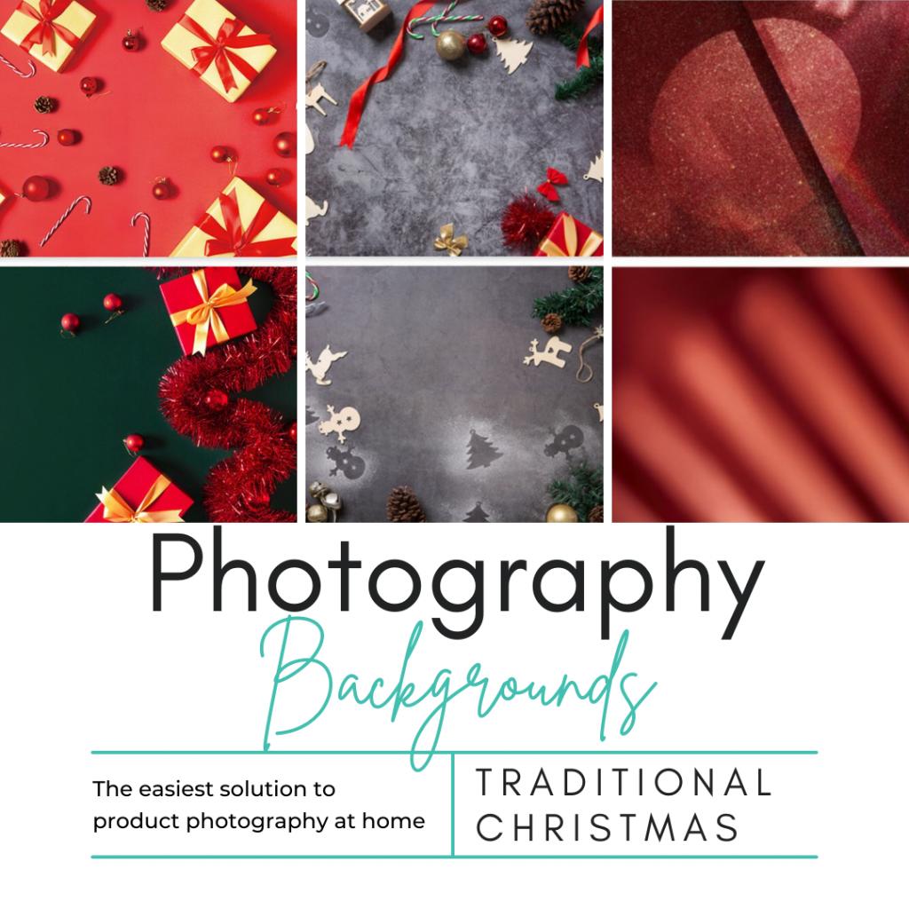 Traditional Christmas Photography Background Set